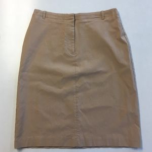 Express Khaki Stretch Pencil Skirt - size 1/2